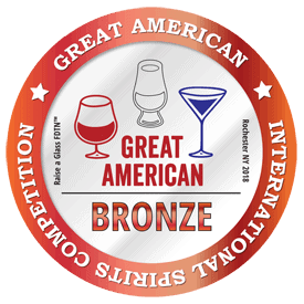2018 Bronze Medal Great American International Spirits Competition