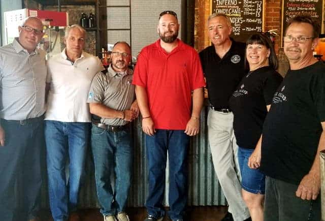 Congressman John Katko Visits Lock 1 Distilling Co. in Phoenix, NY